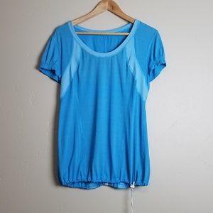 Lululemon Short Sleeve Elastic Adjustable Waist T